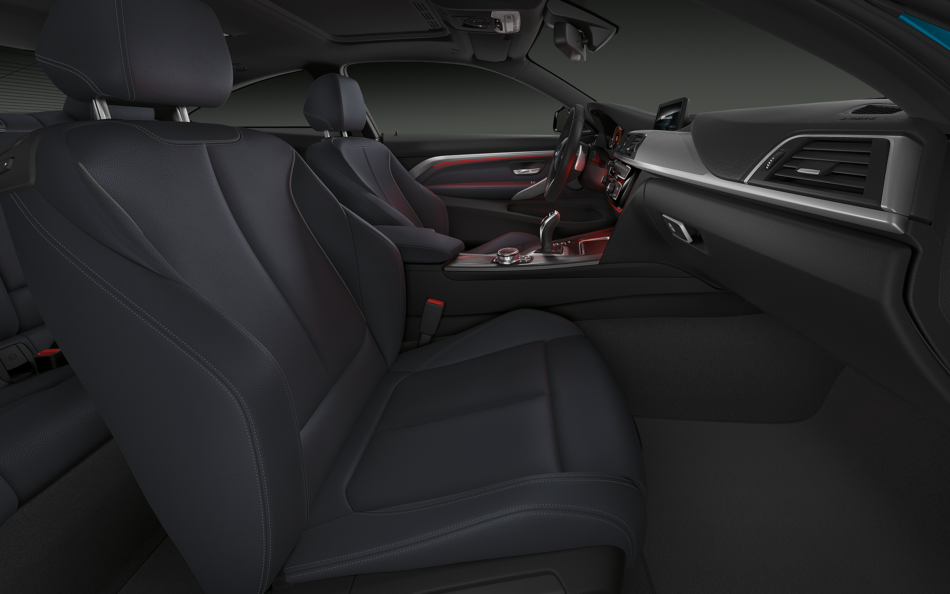 Interior de lujo, BMW Serie 4 Coupé.